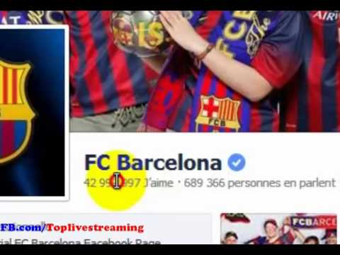 Congratulations to Barcelona 43 million  fans on Facebook