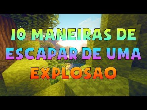 10 MANEIRAS DE ESCAPAR DE UMA EXPLOSÃO NO MINECRAFT