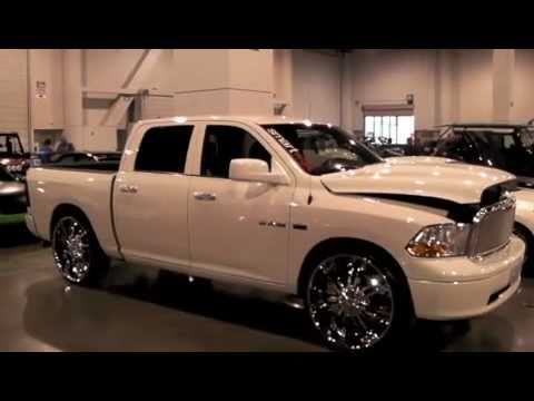 Custon Rims on Dodge Ram 28 Inch Chrome Wheels Display Car At The 2010 Sema Show