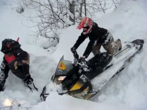 Mark Freeman 408 Snowmobile / Sled Recovery from Face Plant