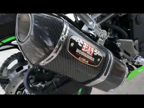 Ninja 300 2014 with Yoshimura r77 carbon full system sound [TH]