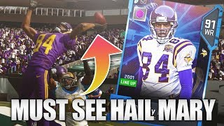 MADDEN 19 ULTIMATE TEAM! RANDY MOSS ONE HANDED HAIL MARY TD!