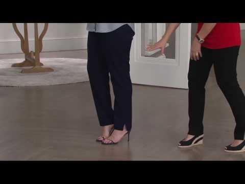 Susan Graver Chelsea Stretch Pull-On Straight Leg Pants w/ Slits on QVC thumbnail