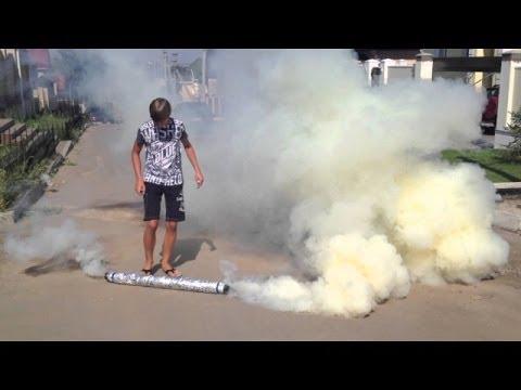 Как сделать сильную дымовую шашку в домашних условиях