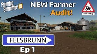FELSBRUNN, Ep 1, PS4, Farming Simulator 19. New Farmer (Audit!). Let's Play.
