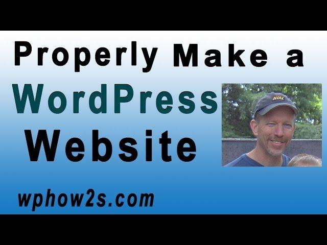 WordPress Tutorial for Beginners | Twenty Fourteen Theme | Properly Make a Website with WordPress