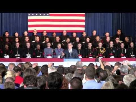 Mitt Romney rally - Valley Forge Military Academy, 9/28/12