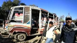 Karachi road accident on University Road