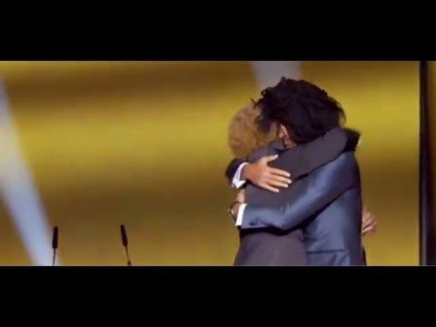 Funny Ruud Gullit Jokes With Valderrama Gala Fifa Ballon D'or 2012