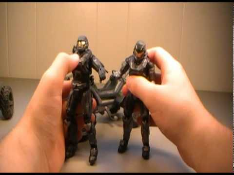 Halo Reach Series 4 Noble 6 and Mongoose Vehicle Pack Action Figure Review