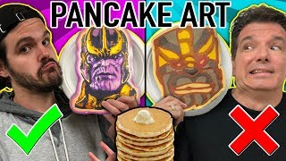 PANCAKE ART CHALLENGE!! Learn How To Make Avengers, Danny Phantom, Thanos, Mario DIY Pancake!