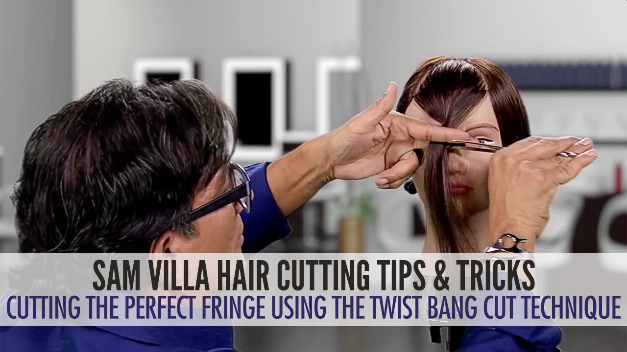 Cutting The Perfect Fringe Using The Twist Bang Cut