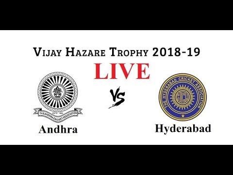 Andhra Vs Hyderabad Match Live Score | Vijay Hazare Trophy Live Score