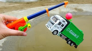 Fishing and finding car, airplane, garbage truck - H579B Toys for kid