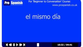 Learn Spanish Vocabulary Course - Lesson 2