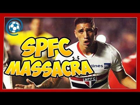 São Paulo 4 x 0 Toluca - narração: Ulisses Costa vs Gustavo Villani - Libertadores 2016