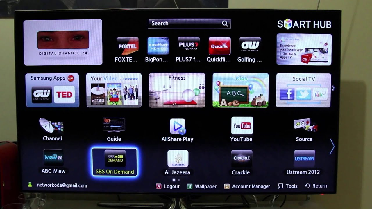 samsung smart tv explained and hands on youtube. Black Bedroom Furniture Sets. Home Design Ideas