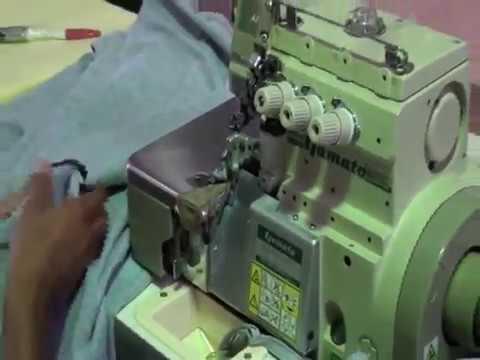 Confeccionando una playera con una máquina de coser Yamato