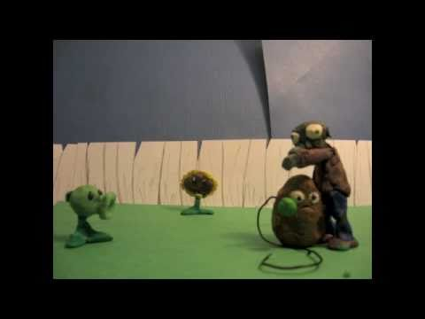 Plants vs zombies claymation-day
