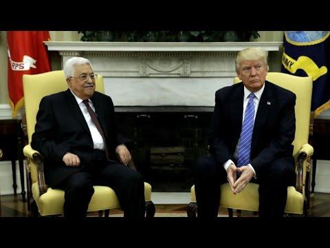 Trump meets with Palestinian leader Mahmoud Abbas