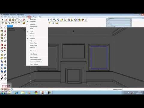 Google Sketchup Tutorial 07-Vray Light & Interior Settings (English)