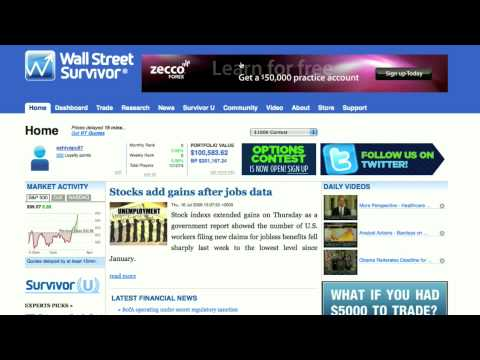 Wall Street Survivor Review - Paper Trading