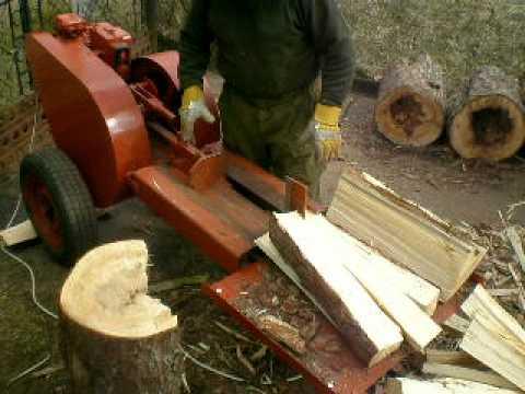 Mechanical flywheel log splitter