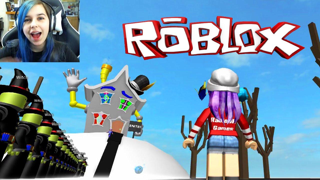 ROBLOX ESCAPE THE EVIL WITCH OBBY | RADIOJH GAMES
