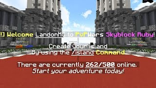 BRAND NEW SKYBLOCK SERVER!? - Minecraft Skyblock Adventures #1