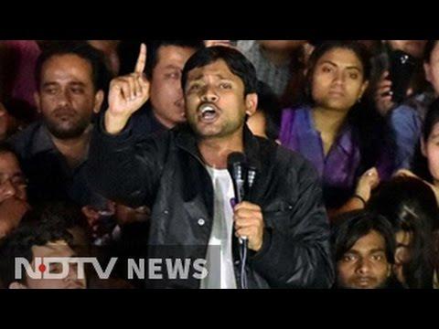Out of jail, Kanhaiya Kumar attacks PM Modi in speech on JNU campus