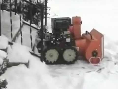 Lawn Mower Snow Blower >> Remote control snow blower - YouTube