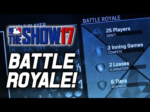 BATTLE ROYALE! SERVERS WENT DOWN :/ - MLB The Show 17 Battle Royale (MLB 17 Gameplay Livestream)