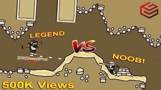 DA2 Mini Militia An Old Legend vs A new Beginner Clash !!