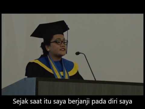 MENGHARUKAN! Pidato Wisuda Mahasiswi SGU ini Bikin Banjir Air Mata!