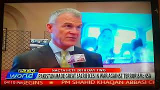 Day 2 of NACTA Counter Terrorism Forum 4th April 2018 Islamabad report by Raza Khan for PTV World