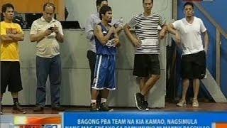 NTG: Bagong PBA Team na Kia Kamao, nage-ensayo na sa pamumuno ni Manny Pacquiao