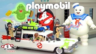 👻 Playmobil Ghostbusters Collection!!  Ecto-1 Car, Fire Station, Slimer, Stay Puft and More!! 😱