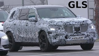 Mercedes Erlkönig GLS 2019 X167 on the road - seltsame Felgen - strange rims 4K SPY VIDEO