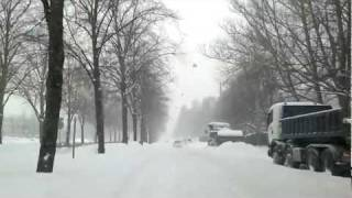 Snow storm in Helsinki 19th of February, Finland