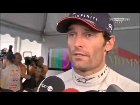 SKY F1 2013 Malaysia Vettel and Webber post race interviews