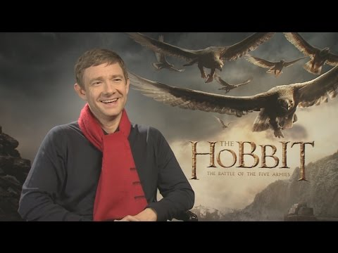 Martin Freeman Talks THE HOBBIT: THE BATTLE OF THE FIVE ARMIES, J. R. R. Tolkien, SHERLOCK, and More