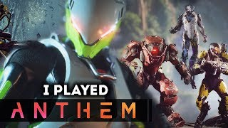 I PLAYED ANTHEM!  New Anthem Gameplay Reactions: Is This Game Any Good So Far?