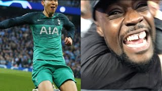 SON HEUNG MIN SCORES A BRACE! 손흥민 BOTH FANS KICK OFF| Man City (4) vs Tottenham (3) EXPRESSIONS VLOG