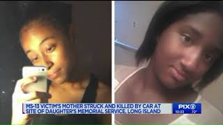 Mother of alleged MS-13 victim fatally struck by car at site of daughter`s memorial service