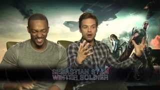 Captain America: The Winter Soldier Interviews -- Sebastian Stan And Anthony Mackie