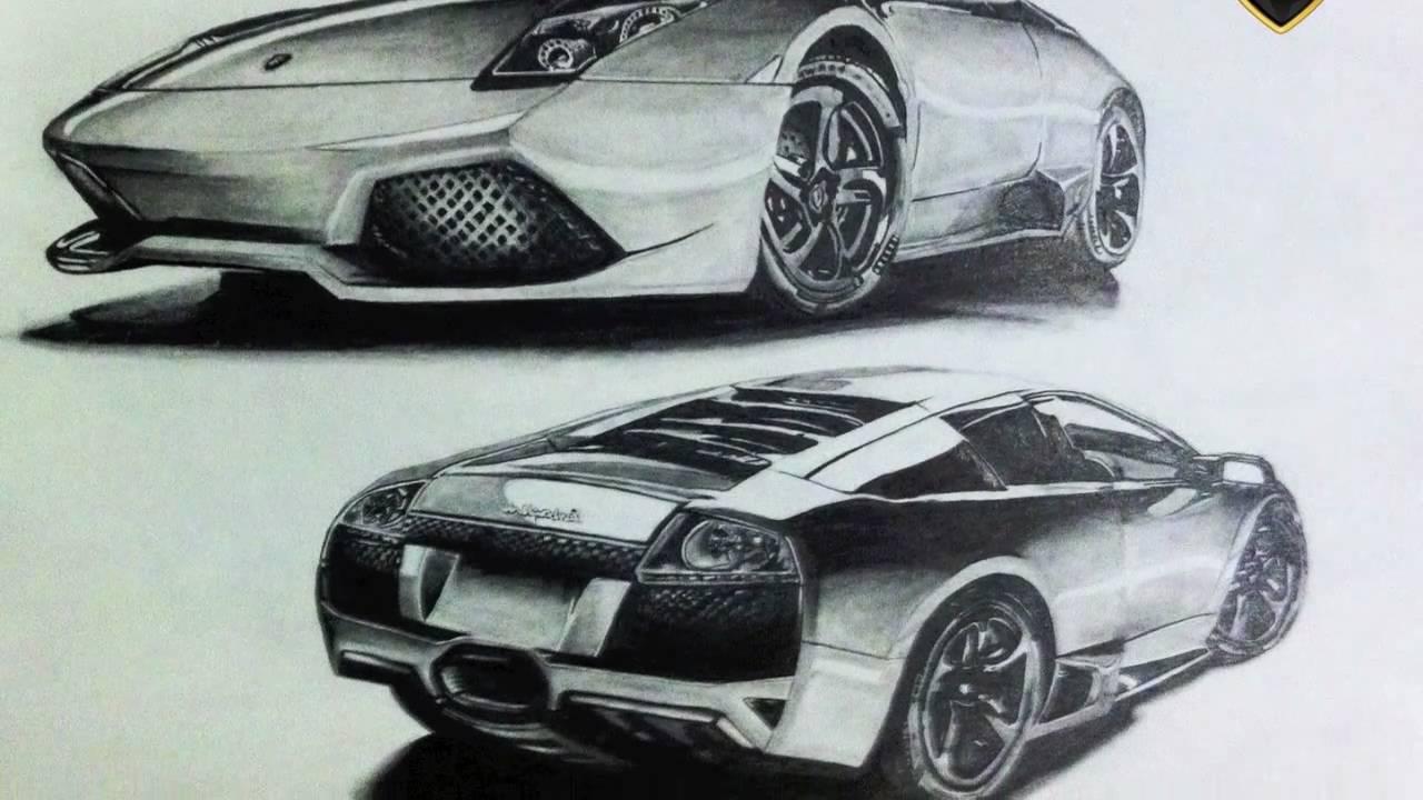 Car drawing: Lamborghini Murcielago - YouTube