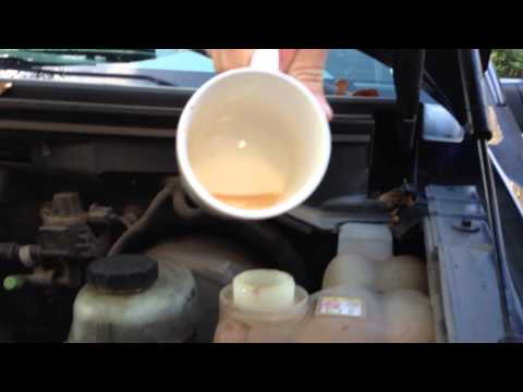 Radiator Flush and Coolant Testing