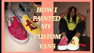 HOW I PAINTED MY CUSTOM BILLIE EILISH VANS!! Stacia Nikol