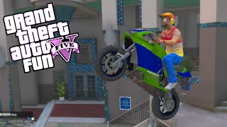 GTA 5 Fun - Moo vs Delirious, Stunt Montage, Hiding Spot (Spare Parts Edition)