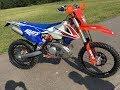 KTM exc 300TPI 2018 Six Days   Startup & Ride